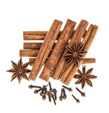 Christmas food spices. Mulled wine gingerbread ingredients Royalty Free Stock Image