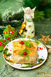 Christmas food Stuffed cabbage Royalty Free Stock Image