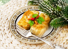 Christmas food Stuffed cabbage Stock Photo