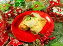 Christmas food Stuffed cabbage Stock Photo