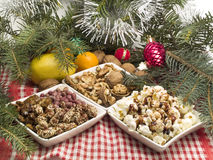 Christmas Food. Traditional Christmas Food shot from above Royalty Free Stock Photography