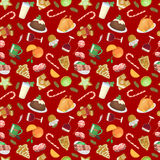 Christmas food vector pattern Royalty Free Stock Photography