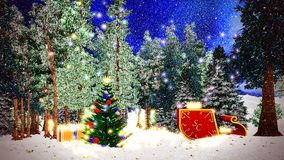 Christmas forest Royalty Free Stock Image