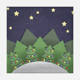 Christmas Forest Paper Cut-out Stock Photo