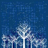 Christmas forest, vector Stock Photos