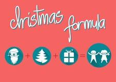 Christmas formula. Christmas greeting card, flat design, christmas formula Stock Photography