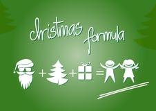 Christmas formula. Christmas greeting card, flat design, christmas formula Stock Images