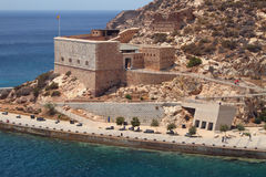 Christmas fort. Cartagena, Spain Royalty Free Stock Photos