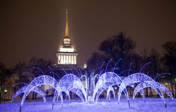 The christmas fouillumination Stock Image