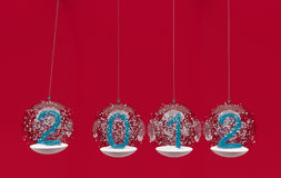 Christmas four snow balls Royalty Free Stock Images