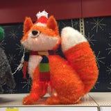 Christmas Fox. Greeting cards fox christmas xmas festive lawn ornament Royalty Free Stock Images