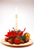 Christmas fragant plate Stock Photos