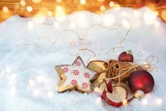 Christmas fragrance in snow Royalty Free Stock Photography