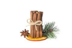 Christmas fragrances. Isolated on white background Stock Photo