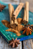 Christmas fragrant spices. Stock Images