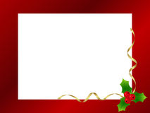 Christmas frame. Red ornamental christmas frame. Christmas Background. Vector illustration Royalty Free Stock Images