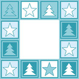 Christmas frame. Iluustration of frame wih christmas elements Royalty Free Illustration