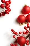 Christmas frame. Traditional christmas red decoration. christmas frame for greeting card stock photography