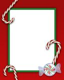 Christmas Frame. An illustration of a Christmas frame with candies vector illustration