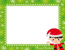 Christmas frame royalty free illustration