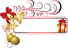 Christmas frame. The  illustration contains the image of christmas background Royalty Free Stock Image