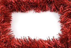 Christmas frame. On white background Royalty Free Stock Image