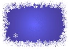 Christmas frame. Vector Christmas frame made of white snowflakes Stock Photos