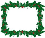 Christmas frame. Christmas decoration ornament with holly berry Stock Images