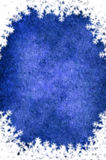 Christmas frame. A Cristmas blue frame with white border Royalty Free Stock Photography