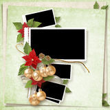 Christmas frame Stock Photos