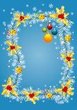 Christmas frame. With branch fir, element for design,  illustration Royalty Free Stock Photo