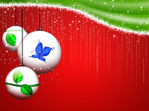 Christmas frame. Abstract christmas background with decorative balls Stock Photo