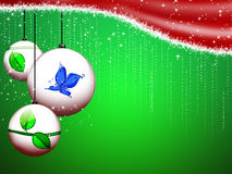 Christmas frame. Abstract christmas background with decorative balls Stock Images