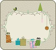 Christmas frame. Abstract Christmas frame in the style retro Royalty Free Stock Photos