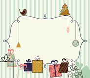 Christmas frame. Abstract Christmas frame in the style retro Stock Photos