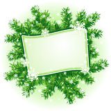 Christmas frame. With branches of fir-tree and snowflakes. EPS10 Royalty Free Stock Image