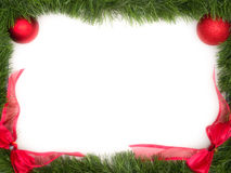 Christmas Frame. On white background Stock Images