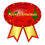 Christmas frame. With a ribbon of material Royalty Free Stock Photography