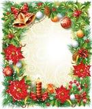 Christmas frame Stock Image