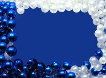 Christmas frame. Pearl beads Stock Image
