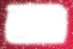 Christmas frame. Abstract snowflake christmas frame on red background Royalty Free Stock Photos