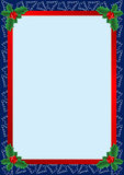 Christmas frame. Beautiful frame with Christmas trees and holly Royalty Free Stock Images