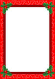 Christmas frame. Beautiful frame with Christmas trees and holly Stock Images