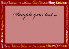 Christmas frame. Red christmas frame whit red color Royalty Free Stock Image