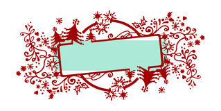 Christmas frame. Vector sketchy frame for Christmas Royalty Free Stock Image