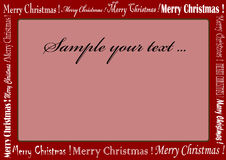 Christmas frame. Red christmas frame whit red color Royalty Free Stock Images