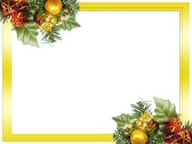 Christmas frame. Christmas decoration on white background royalty free stock photography