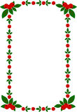Christmas frame. Vector illustration of Christmas frame with green sprays Royalty Free Stock Images