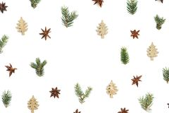 Creative Christmas Frame On White Background royalty free stock images