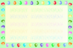 Christmas frame and background. With Christmas decorations and text vector illustration